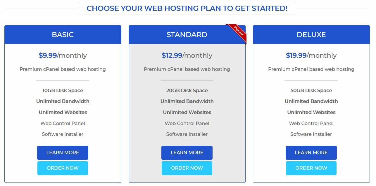 Bink Internet Hosting Plans 2020